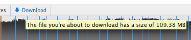 SoundCloud - The link title for the download button displays the size of the file. /via dill