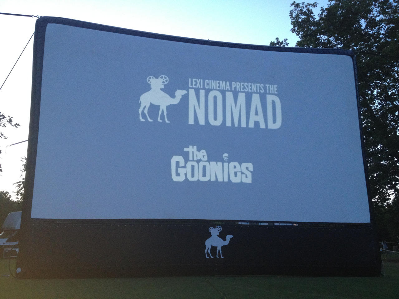 Goonies time! Queens Park outdoor cinema