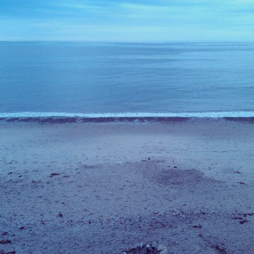 View from the balcony of my room at the beach house. (Taken with Instagram)