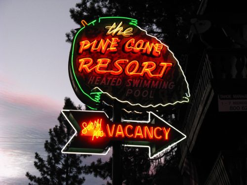 The Pine Cone Resort - Zephyr Cove, Nevada USA - August 6, 2008Credit: Jasperdo on Flickr via the Fading America group pool.