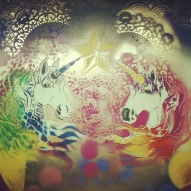 Best bathroom in Calgary #unicorns #yyc (Taken with Instagram at Broken City Social Club)