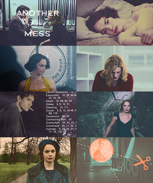 flushwithcash:  guest star meme → ruth wilson on the hour (by purplu) → The ratings are down for The Hour so in an attempt to shake things up the hire England's first female co-anchor. Rose Bradley(Wilson) is intelligent, beautiful and charming and quickly becomes a hit both professionally and publicly. But Rose's ambition to be lead anchor soon leads to clashes with Hector and when he disappears without a trace, Bel and Freddie wonder how far Rose will go to get what she desires most.