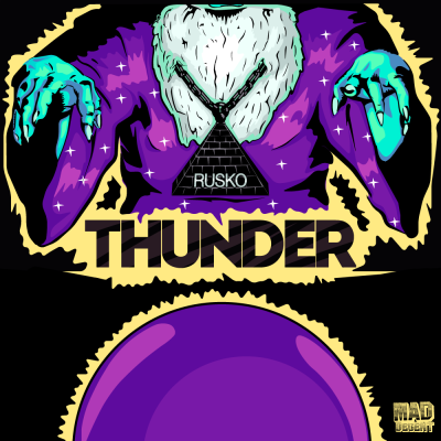 Artwork I did for Rusko's single: THUNDER[Unused]