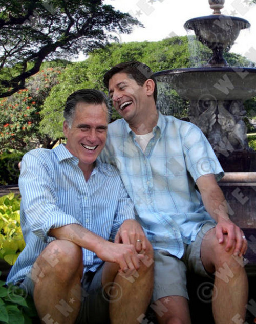 Mitt and Paul.  (There are so many things about this photo.)