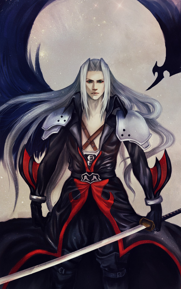 girlanime19:  Sephiroth by ~RobasArel