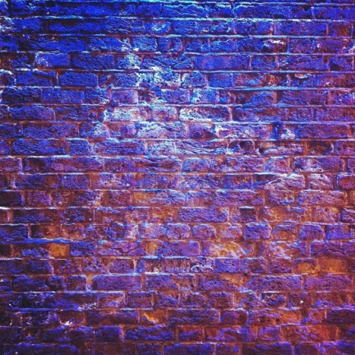 My night #bus #shelter #brick #texture #blue #london #4 #106 #wall #waiting (Taken with Instagram)