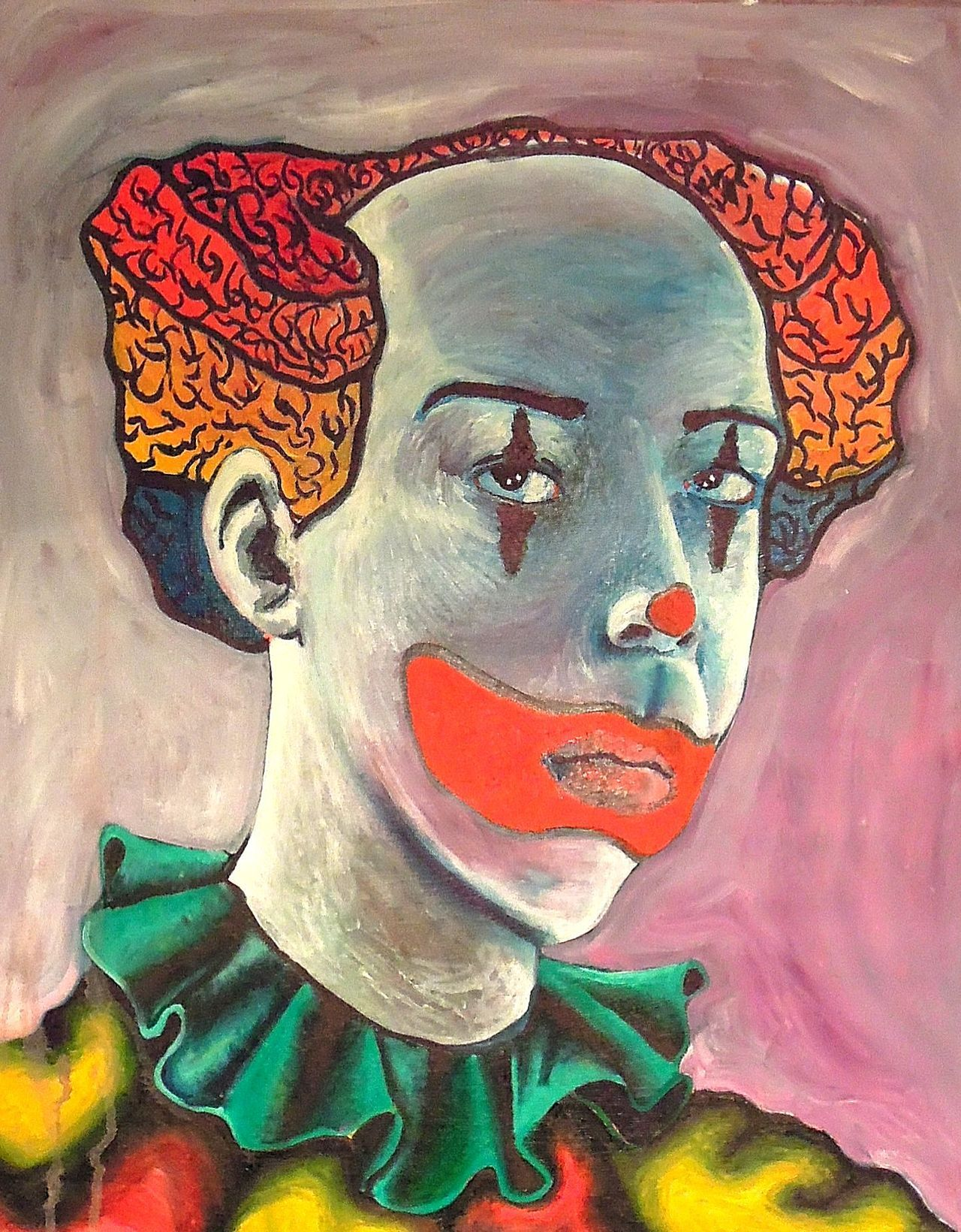 Clown Self- PortraitOil on canvas