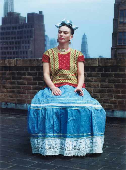 "Nickolas Muray Frida Kahlo in New York, 1946 Carbon Pigment Print, 22"" x 17 1/2"""