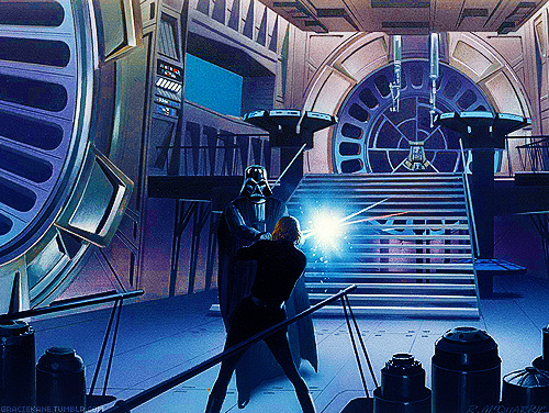 graciekane:    Star Wars by Ralph McQuarrie → Confrontation with Vader and the Emperor