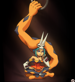 michafrar:  Cerebella from Skullgirls being not so acrobatic. It was a sketch from my livestream at first, but I liked my sketch so I decided to finish and complete it! Now don't get your ass handed, as they say. B)