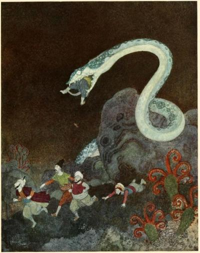 Sinbad the sailor & other stories from the Arabian nights (1914)Illustrations by Edmund DulacThe Episode of the Snake
