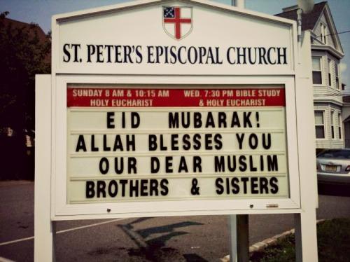 depl0re:  Church wishes Muslims a happy Eid