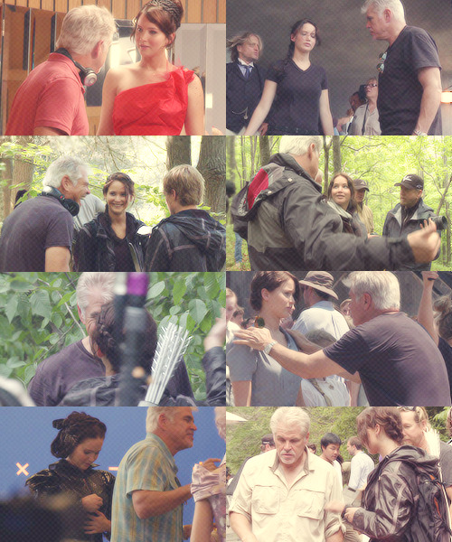 Jen & Gary on set of The Hunger Games