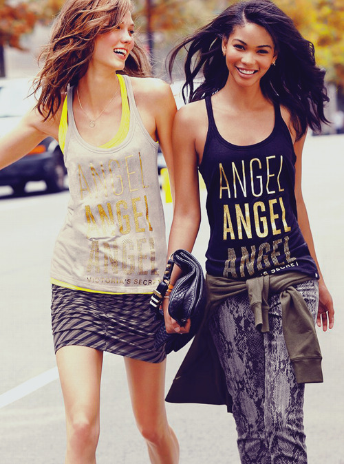 Chanel Iman & Karlie Kloss for Victoria's Secret