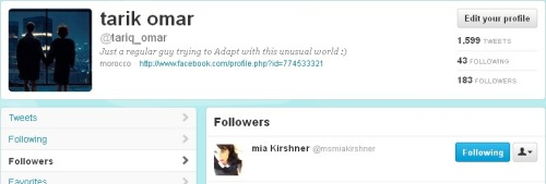 mia kirshner my dream girl just follow me Twitter , Now I Can Die A Happy Man ♥ ♥ ♥