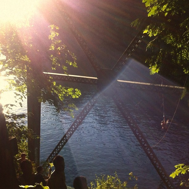 Parliament representing at the Lake Merwin rope swing (Taken with Instagram)