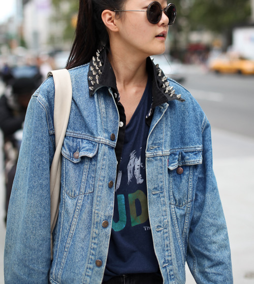 leeoliveirass:  Studs and Denim… Hyoni Kang Image via leeoliveira.com