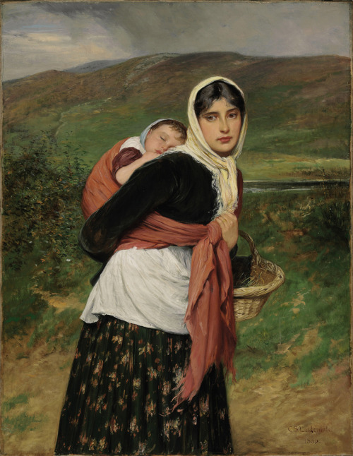 labellefilleart:  Returning from the Market, Charles Sillem Lidderdale
