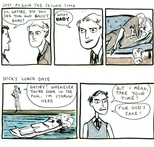 puttonyourwarpaint:  quotesfromfiction:  rifflefiction:  Kate Beaton is one of my very favorite comic artists. If you don't already know her work, hop to it! She's hilarious and brilliant.   I adore these comics.  Kate Beaton in general, but seriously, these are absolutely hilarious.  IT'S BACK