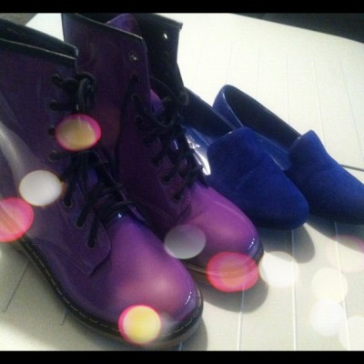 #picfx #new #shoes #boots #loafers #purple #blue ready for #bts (Taken with Instagram)