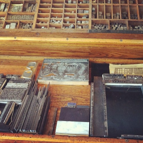 Palace Print Shop, Santa Fe (Taken with Instagram)