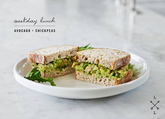 (via avocado & chickpea salad sandwich | Love and Lemons)