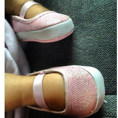 Tilly feet! 💗 #baby #friends #love #ballet #shoes #pink #sparkles #cute #babygirl #sweet  (Taken with Instagram)