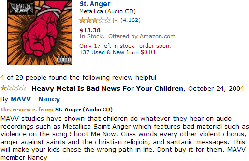 """Thanks to music like this, a saint gets angered on every 30 seconds in America"""