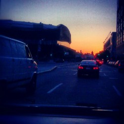 Heading Home, The Barclays Center is on the Rise.. #Sunset #Brooklyn #AtlanticAvenue #BarclaysCenter #Summer #ProspectHeights #FortGreene #DowntownBrooklyn #Driving #OntheRoad (Taken with Instagram at Atlantic Terminal & Atlantic Mall)