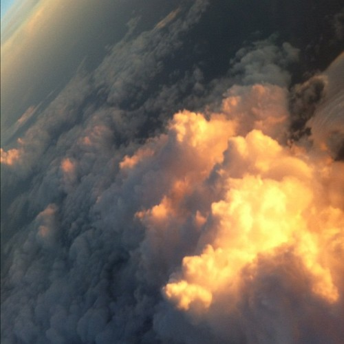 Cotton Candy Clouds (taken from the airplane) #nofilter (Taken with Instagram)