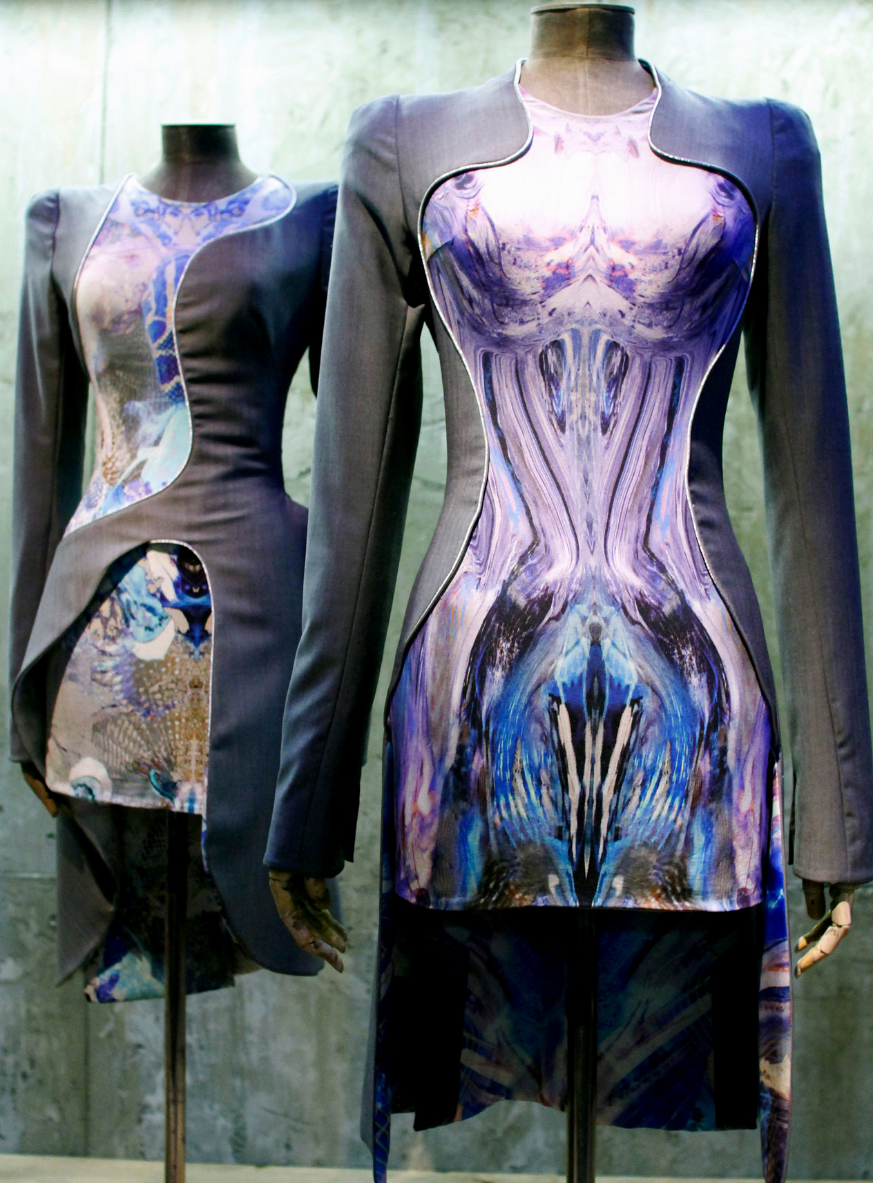 Alexander McQueen Spring 2010 on display at the Savage Beauty Exhibition.