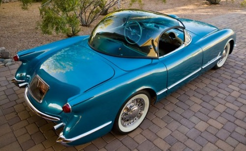 "psychoactivelectricity:  1954 Chevrolet Corvette ""Bubbletop"" Roadster"