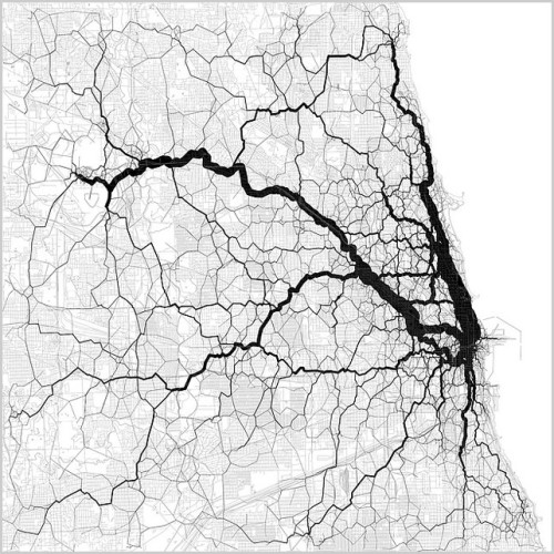 12gdsnotebook:  Chicago traffic arteries