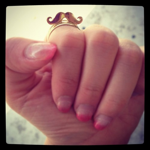 Moustache Sunday. 😊 #ring #moustache #fashion (Taken with Instagram)