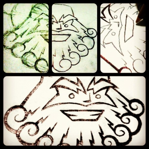 Olimpus 2 #sketch #boceto #drawing #dibujo #logorama #logo #process #proceso #design #diseño  (Taken with Instagram)