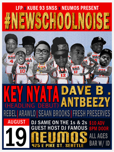 New School Noise is tomorrow at Neumos! Get your tickets here!