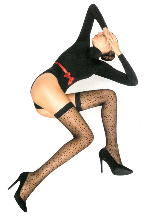 "I'm thinking ""Yes"" to these stockings. Wolford via Lille Boutique"