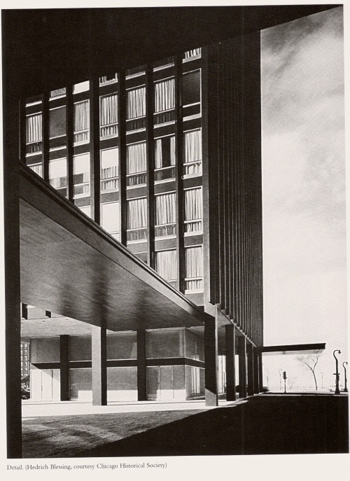 architectureofdoom:  Lake Shore Drive Appartments, Chicago, Mies van der Rohe, 1948-51