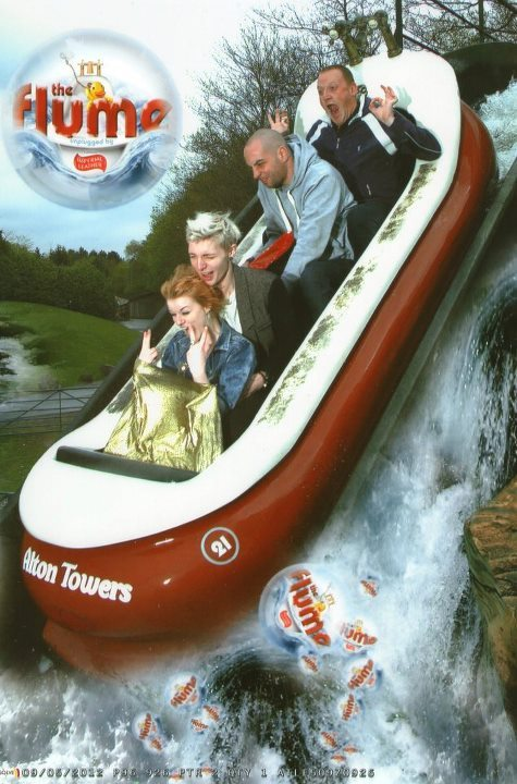 The day we went to Alton Towers with a couple of close friends and a couple of the worlds most annoying sons a' bitches. Needless to say the best part was coming back to Annies flat for some alone time (nap time).I think thats Annies umbrella, don't recall her wearing a gold skirt…