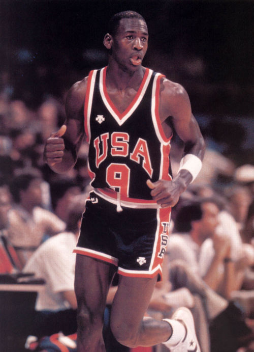 Michael Jordan at the 1984 Olympics, 8 years before the Dream Team.