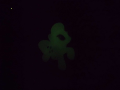 My Rarity glows in the dark. 2spooky.