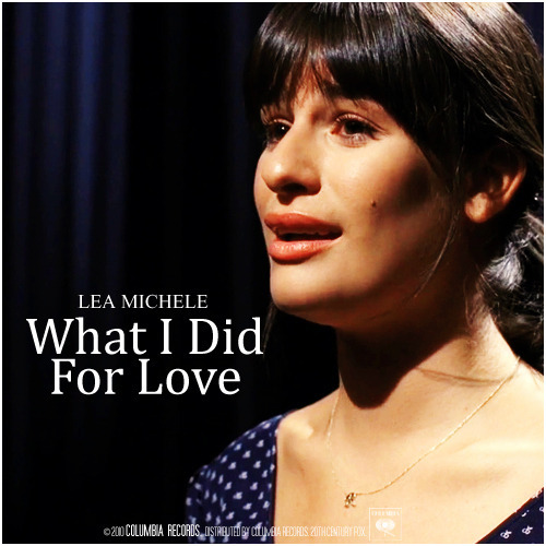 2x01 Audition | What I Did For Love Alternative Cover