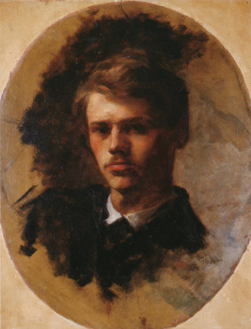 blastedheath:   Émile Friant (French, 1863-1932), Self-portrait, 43.2 x 33.3 cm.