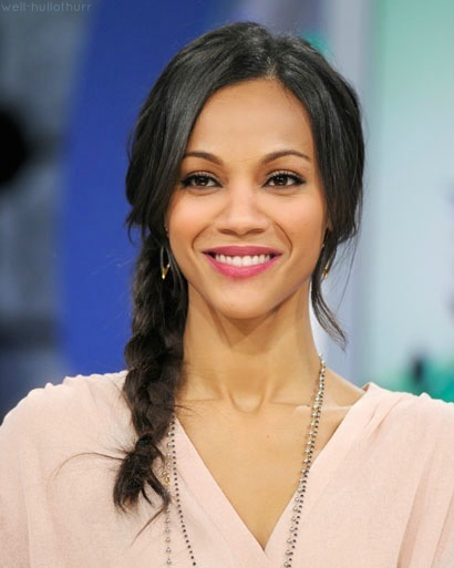A beautiful smile on Zoe Saldana.
