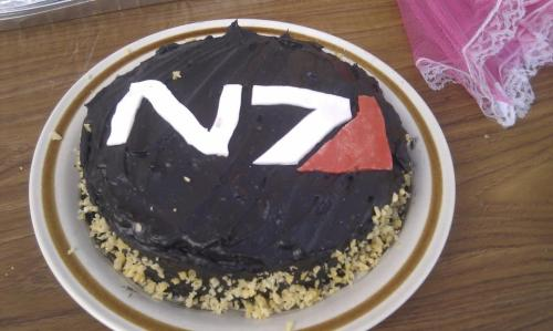 My N7 Chocolate cake with popping candy edging :)