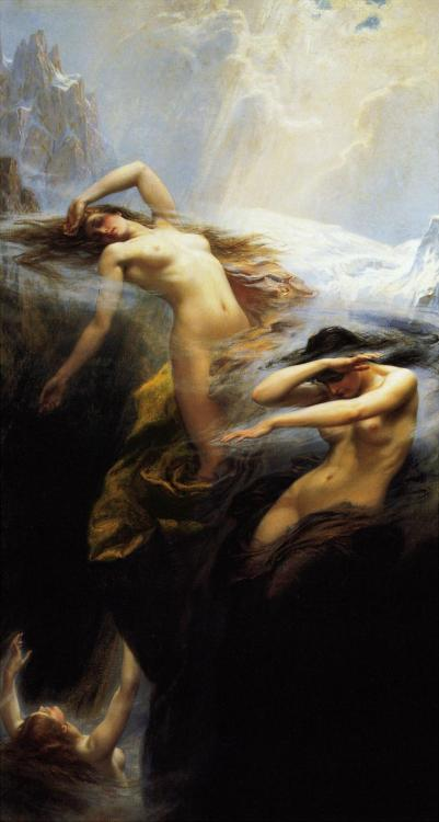 suicideblonde:  Clyties of the Mist (1912) by Herbert James Draper