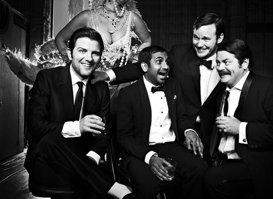 bohemea:  Adam Scott, Aziz Ansari, Chris Pratt & Nick Offerman by Jeff Riedel