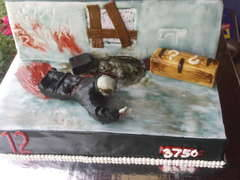 geeky-gadgets:  Call of Duty Zombies themed cake! Best cake ever!  LOOK AT THIS CAKE