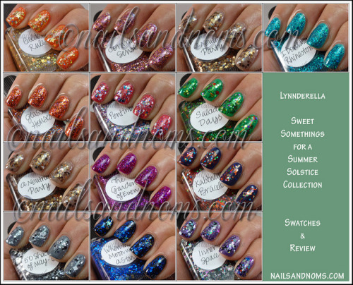 (via Lynnderella Sweet Somethings For A Summer Solstice Collection - Swatches and Review)