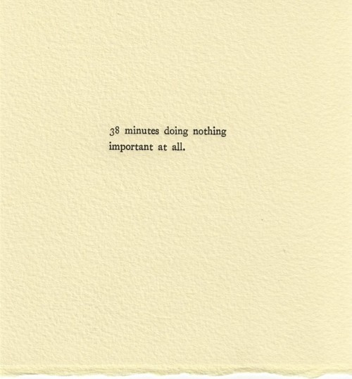 "visual-poetry:  ""time wasting experiments"" by alyson provax"